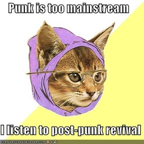 Punk is too mainstream  I listen to post-punk revival