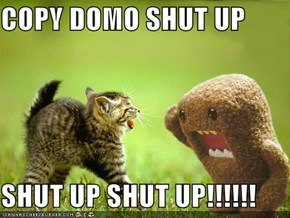 COPY DOMO SHUT UP  SHUT UP SHUT UP!!!!!!