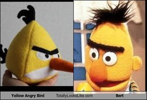 Yellow Angry Bird Totally Looks Like Bert
