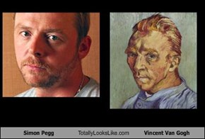 Simon Pegg Totally Looks Like Vincent Van Gogh