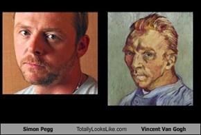 Simon Pegg Totally Looks Like Vincent Van Gogh