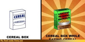 Funny Food Photos - Cereal Box Reading Material