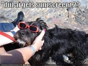 duz ai gets sunzscreenz 2?