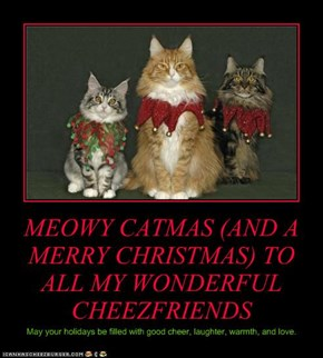 MEOWY CATMAS (AND A MERRY CHRISTMAS) TO ALL MY WONDERFUL CHEEZFRIENDS