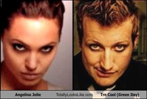 Angelina Jolie Totally Looks Like Tre Cool (Green Day)