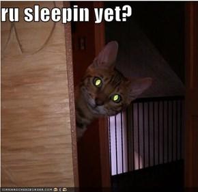 ru sleepin yet?