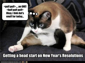 Getting a head start on New Year's Resolutions
