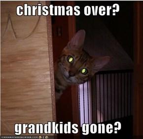 christmas over?  grandkids gone?