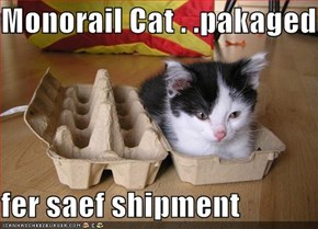 Monorail Cat . .pakaged  fer saef shipment