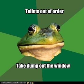Toilets out of order