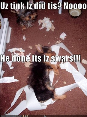 Uz tink Iz did tis? Noooo He done its Iz swars!!!