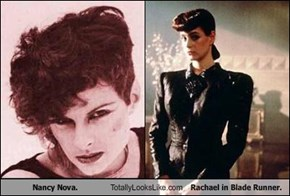 Nancy Nova. Totally Looks Like Rachael in Blade Runner.