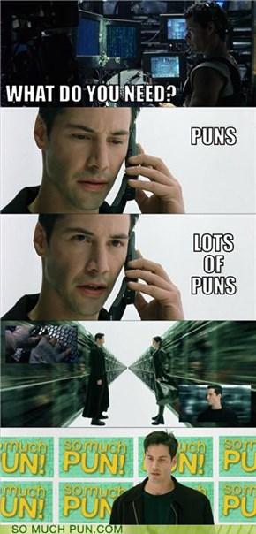 Puns. Lots of puns.