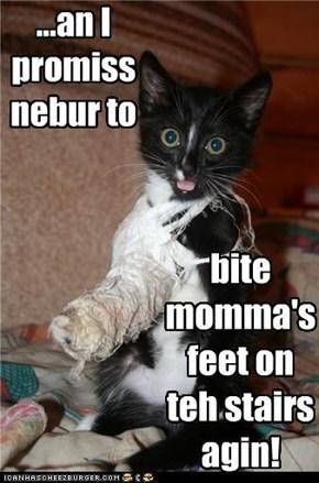 Wen Momma is gunna kum home frum teh hawspittle?