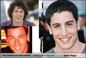 Andy Samberg and Adam Sandler Totally Looks Like Jason Biggs