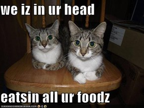 we iz in ur head  eatsin all ur foodz
