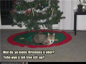 Wat du  yu meen, Krismuss iz ober?