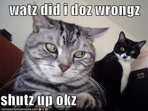 watz did i doz wrongz  shutz up okz
