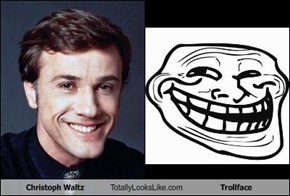Christoph Waltz Totally Looks Like Trollface