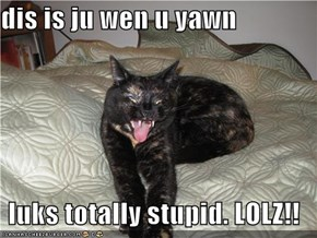 dis is ju wen u yawn  luks totally stupid. LOLZ!!