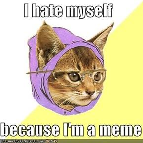 I hate myself  because I'm a meme