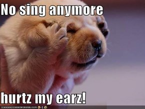 No sing anymore  hurtz my earz!