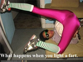 What happens when you light a fart.