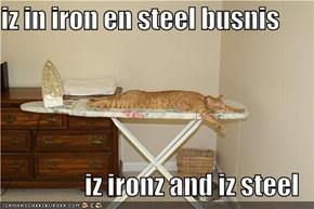 iz in iron en steel busnis  iz ironz and iz steel