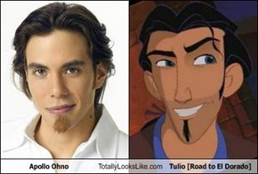 Apollo Ohno Totally Looks Like Tulio [Road to El Dorado]