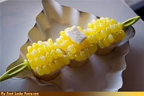 Funny Food Photos - Corn on the Cob Cupcakes