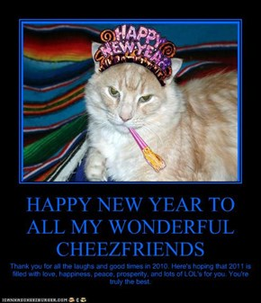 HAPPY NEW YEAR TO ALL MY WONDERFUL CHEEZFRIENDS