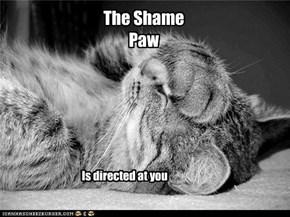 the shame paw
