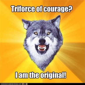 Courage wolf: link and his wimpy Triforce