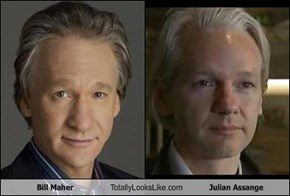 Bill Maher Totally Looks Like Julian Assange