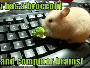 i has a broccoli!  and computer brains!