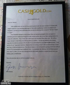 Messing With Cash4Gold WIN