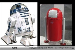 R2D2 Totally Looks Like This bin i found in happy chair is happy