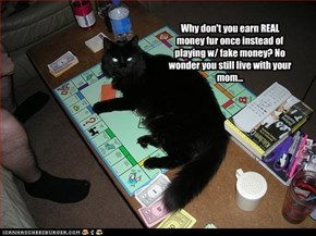 Why don't you earn REAL money fur once instead of playing w/ fake money? No wonder you still live with your mom...