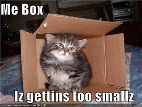 Me Box  Iz gettins too smallz