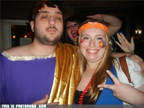 Ceasar and a Hippie go to a bar...