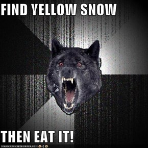 FIND YELLOW SNOW  THEN EAT IT!