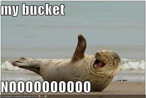 my bucket  NOOOOOOOOOO
