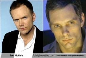 Joel McHale Totally Looks Like Keir Dullea in 2001 Space Oddyssey