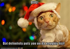 OMG!  Dat definitely puts you on da naughty list!