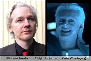 WikiLeaks Founder Totally Looks Like Castor (Tron Legacy)