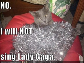 NO. I will NOT sing Lady Gaga.