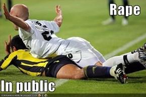 Rape  In public