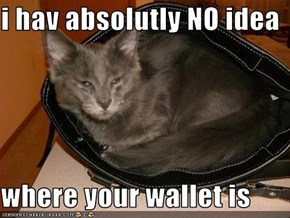i hav absolutly NO idea  where your wallet is