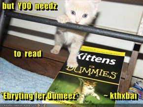 but  YOO  needz          to  read *Ebryting fer Dumeez*               ~ kthxbai