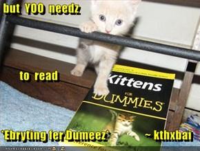 but  YOO  needz          to  read *Ebryting fer Dumeez*               ~ kthxbai